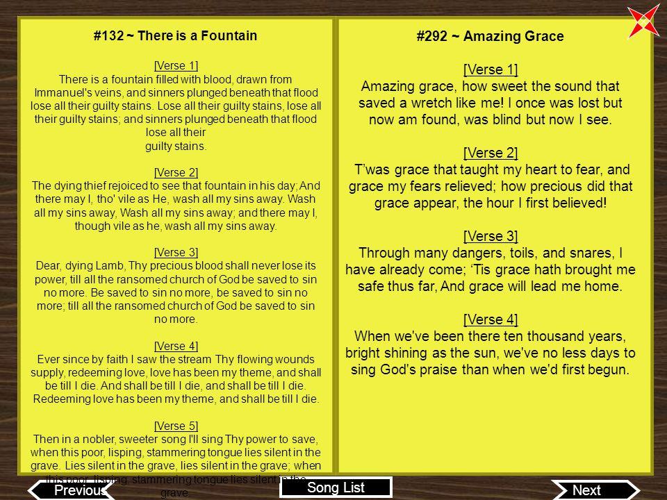 #292 ~ Amazing Grace [Verse 1]